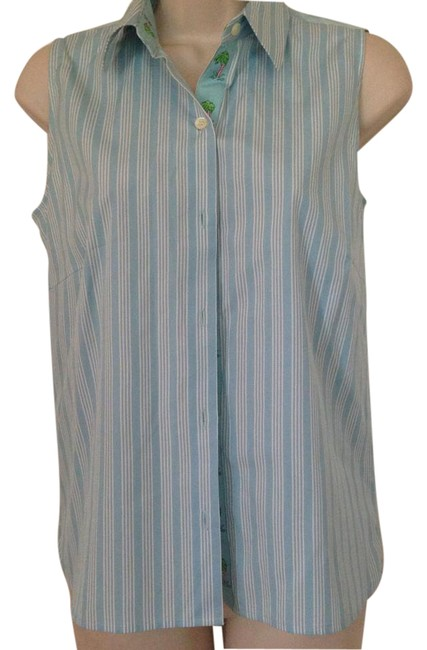 Preload https://item2.tradesy.com/images/blue-palm-beach-blouse-size-4-s-21552511-0-1.jpg?width=400&height=650