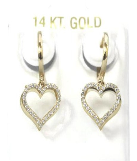 Preload https://item1.tradesy.com/images/gold-14-k-yellow-cz-baby-huggies-heart-earrings-21552515-0-3.jpg?width=440&height=440