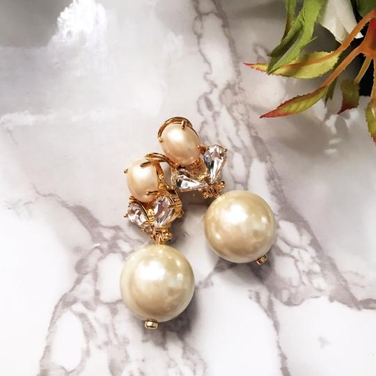 Lele Sadoughi lele 2016 crystal cluster pearl earrings
