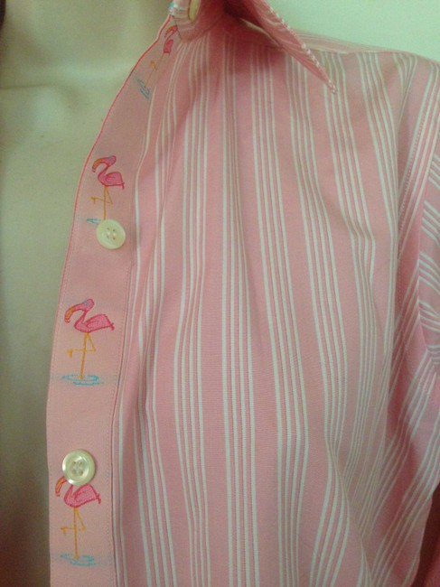 Andrea Becker Flamingos Preppy Dragonfly Top Pink