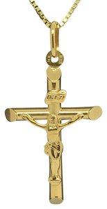 Other 14K Yellow Gold Cross with Jesus Pendant