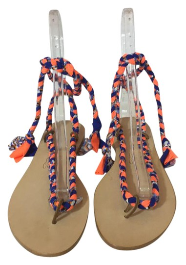 Preload https://item1.tradesy.com/images/multicolor-36617-nwot-fabric-tie-up-gladiator-leather-40-sandals-size-us-10-regular-m-b-21552930-0-1.jpg?width=440&height=440