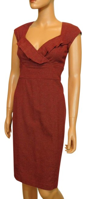 Preload https://item3.tradesy.com/images/nanette-lepore-rust-red-cap-sleeve-sheath-short-workoffice-dress-size-10-m-21552947-0-1.jpg?width=400&height=650