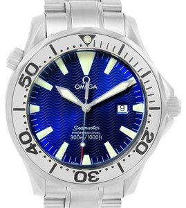 Omega Omega Seamaster Electric Blue Dial Steel Mens Watch 2265.80.00