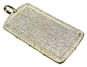 Other 14K Yellow Gold Real Diamond DogTag Pendant Charm 6 1/2 CT 2.1