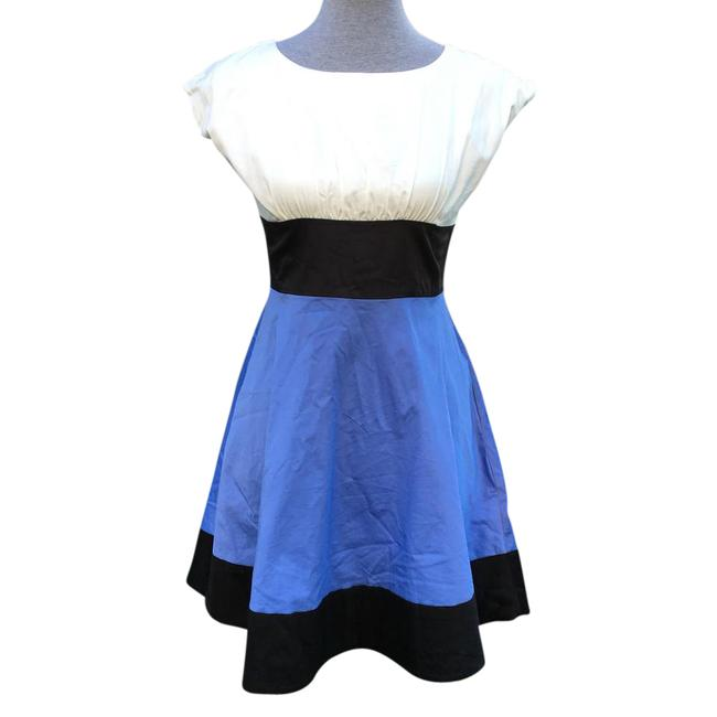 Preload https://item3.tradesy.com/images/kate-spade-black-blue-ivory-bow-colorblock-rare-mid-length-formal-dress-size-0-xs-21553112-0-1.jpg?width=400&height=650