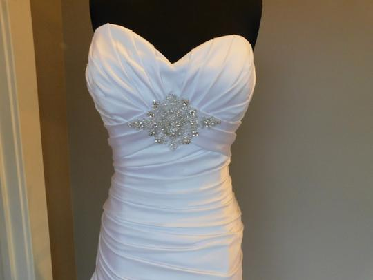 Casablanca White/Silver 2086 Wedding Dress Size 12 (L)