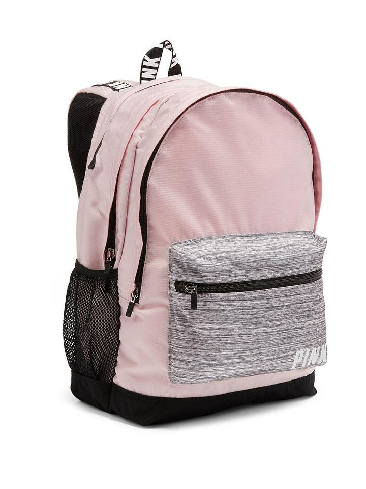 e798fdeacf729 Campus Colorblock Light Cherub Pink Grey Marl Polyester Backpack