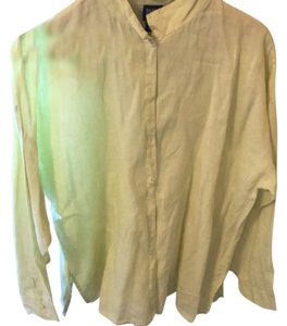Preload https://item2.tradesy.com/images/eileen-fisher-chartreuse-yellow-linen-shirt-blouse-size-petite-14-l-21553191-0-1.jpg?width=400&height=650