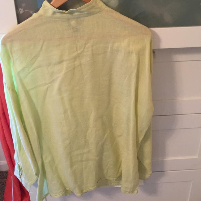 Eileen Fisher Top chartreuse yellow