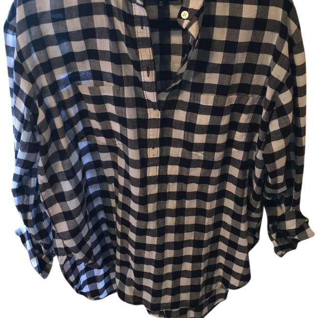 Preload https://item5.tradesy.com/images/madewell-black-and-white-check-shirt-blouse-size-8-m-21553224-0-1.jpg?width=400&height=650