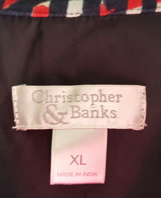Christopher & Banks Jacket Cotton Polyester Lining Multicolor Blazer