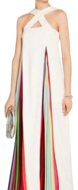 Preload https://item5.tradesy.com/images/mary-katrantzou-white-and-colorful-long-cocktail-dress-size-4-s-21553399-0-1.jpg?width=400&height=650