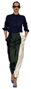 Paul Smith Silk Color-blocking Runway High Waist Wide Leg Pants Multicolored