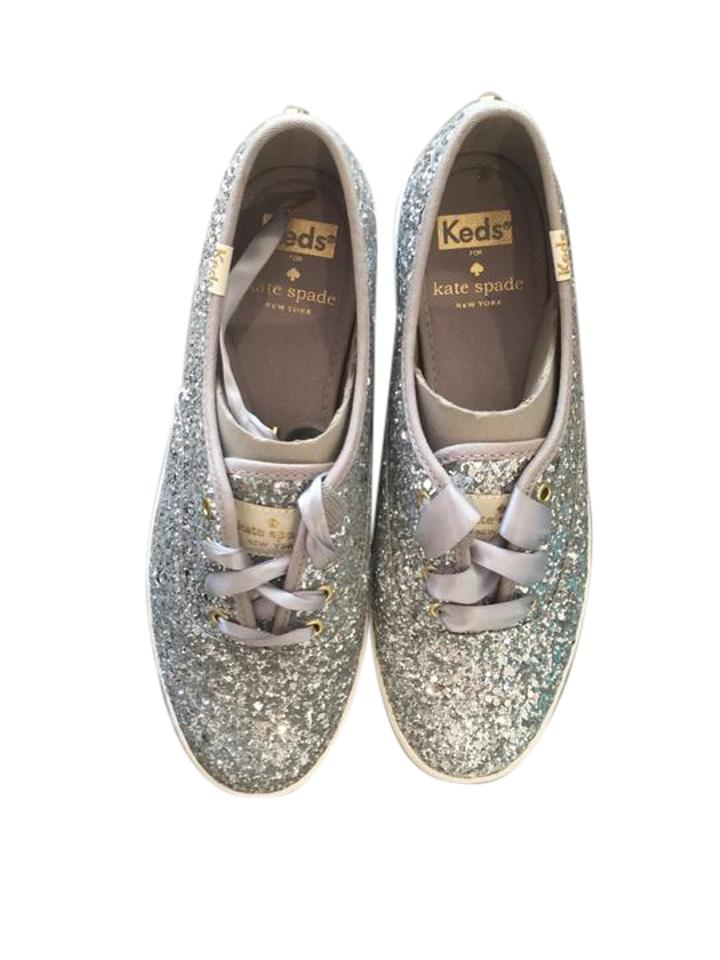 7e58808a82c Kate Spade Glitter Silver Keds X New York Champion Sneakers Size US ...