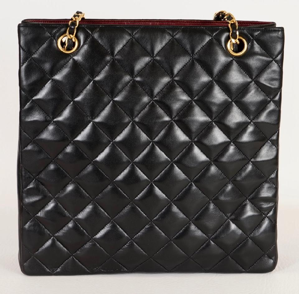 a7442875d1fe Chanel Quilted Matelasse Cc Logo Chain Black Lambskin Leather Shoulder Bag  - Tradesy
