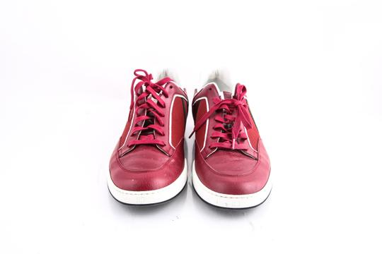 Gucci * Red Mesh-leather Lace-up Sneaker Shoes