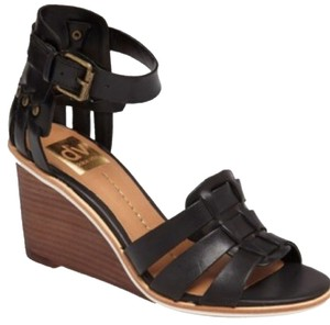 Dolce Vitas Dv Studs Leather Black Wedges
