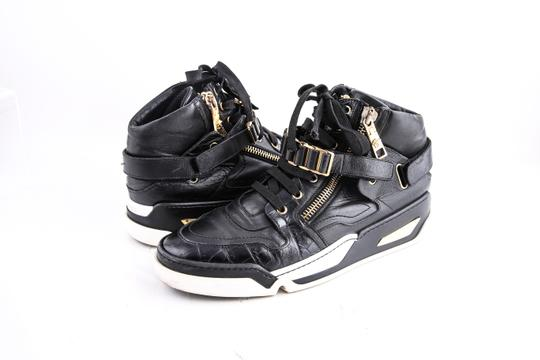 Preload https://img-static.tradesy.com/item/21553595/versace-black-leather-gold-zip-high-top-sneakers-metal-chain-velcro-shoes-0-0-540-540.jpg