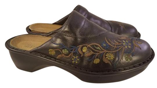 Naot Footwear Embroidery black Mules