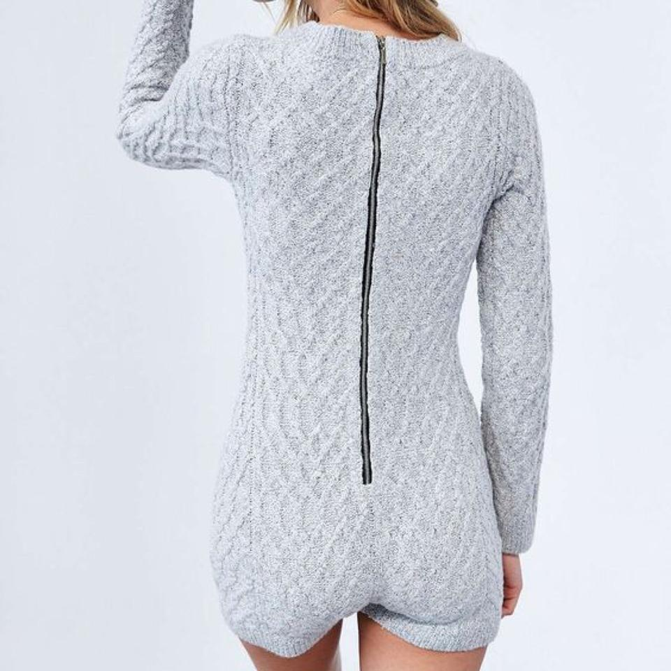 2b6e133aa05d For Love   Lemons Gray Knitz By Fll Snow Day Cable Knit Onesie ...