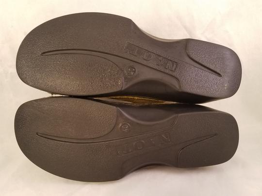 Naot Footwear Made In Israel Brown and green(taupe) Mules