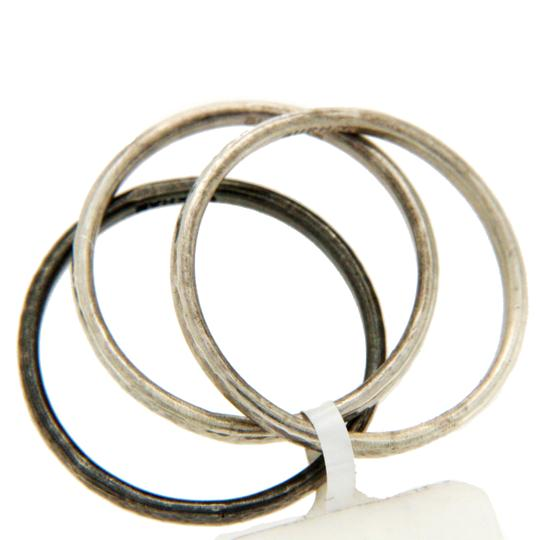 GURHAN Authentic GURHAN 925 Sterling Silver Set of 3 Midnight Band Ring