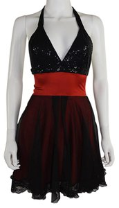 Lisa Nieves Chiffon Sequin Prom Lace Formal Dress