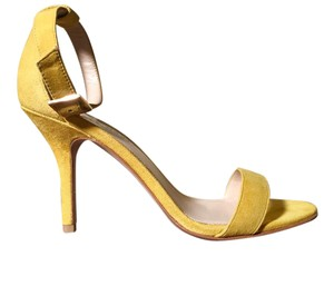 Pelle Moda Suede Ankle Strap New Yellow Sandals