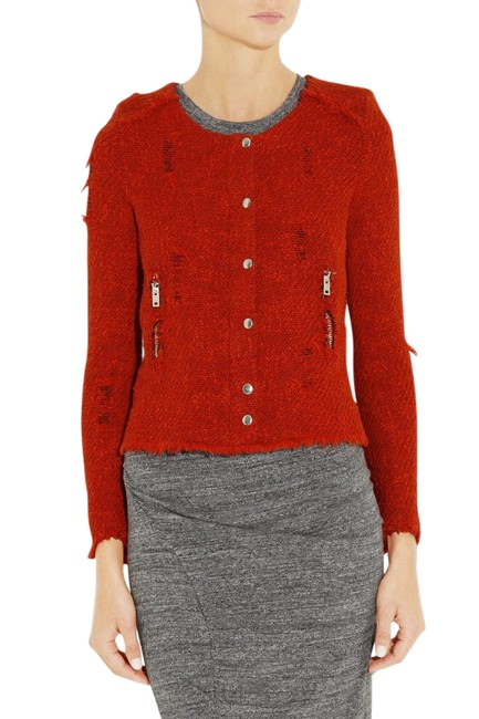 Preload https://img-static.tradesy.com/item/21554176/iro-red-agnette-distressed-tweed-size-4-s-0-1-650-650.jpg