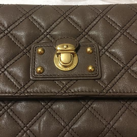 Marc Jacobs Taupe brass Clutch