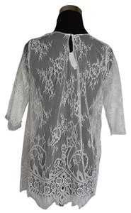 Lisa Nieves Lace Longsleeve Comfortable Casual Prom Top off white