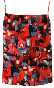 Anthropologie High-waisted Chic Skirt Red, gray, black