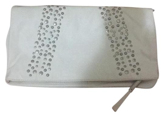 Preload https://item5.tradesy.com/images/esprit-silver-stud-ivory-faux-leather-clutch-21554309-0-1.jpg?width=440&height=440