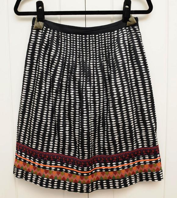 Anthropologie High-waisted Chic Skirt White and black