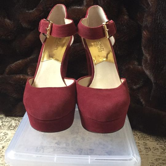 Michael Kors red Platforms