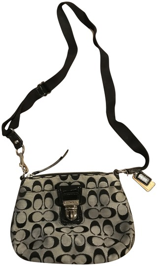 Preload https://item5.tradesy.com/images/coach-black-and-grey-canvas-cross-body-bag-21554444-0-3.jpg?width=440&height=440