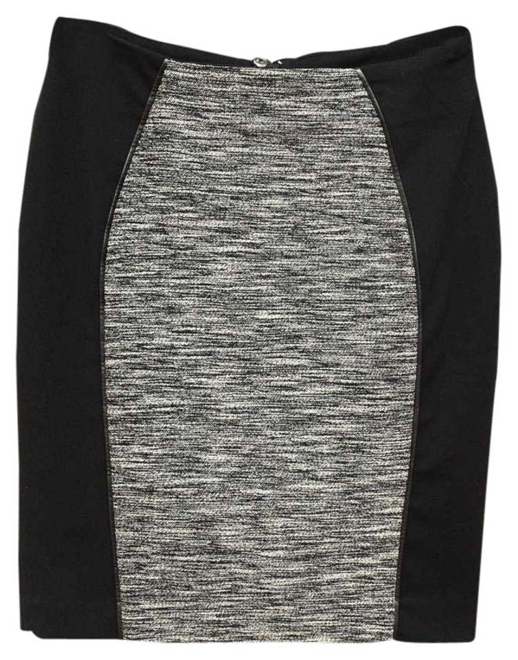 52d3a8eab85f H&M Gray and Black Business Pencil Skirt Size 4 (S, 27) - Tradesy
