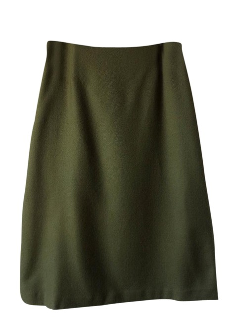 Preload https://img-static.tradesy.com/item/21554642/zara-olive-wool-knee-length-skirt-size-4-s-27-0-2-650-650.jpg
