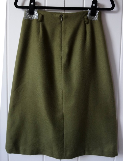 Zara Green Casual Skirt olive