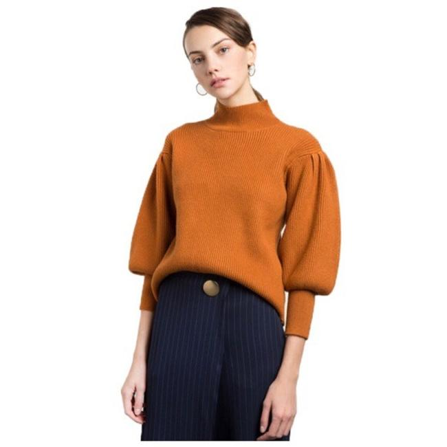 Preload https://item4.tradesy.com/images/rust-orange-puff-sleeve-knit-da32-sweaterpullover-size-8-m-21554668-0-0.jpg?width=400&height=650