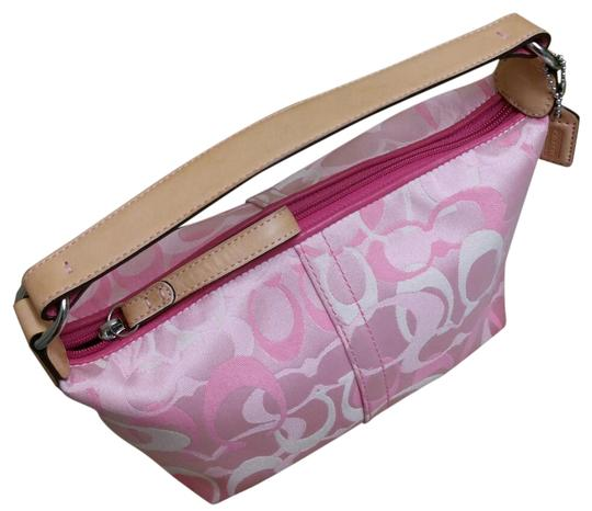 Preload https://item2.tradesy.com/images/coach-nwot-optic-signature-pouch-pink-canvas-baguette-21554786-0-3.jpg?width=440&height=440