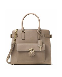 Michael Kors Collection Tote in Dark Dune/Gold
