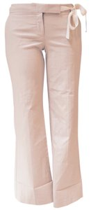 Anthropologie Leg Long Flare Pants beige / cream