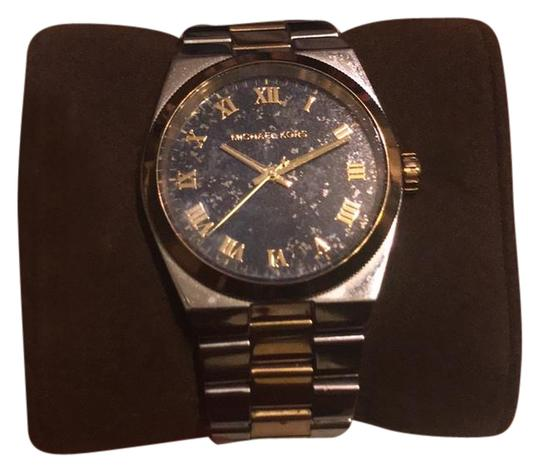 Preload https://item1.tradesy.com/images/michael-kors-silver-gold-and-blue-watch-21555050-0-1.jpg?width=440&height=440