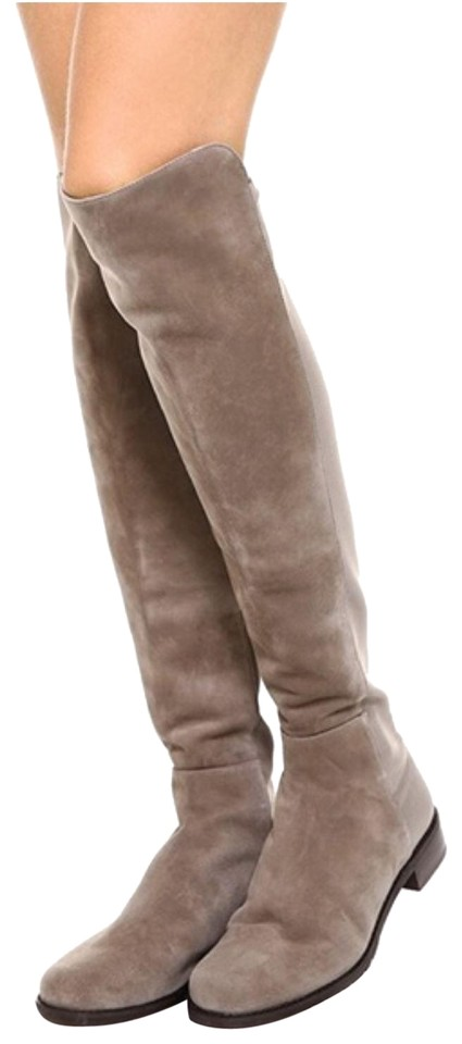 623e6c1caf1 Stuart Weitzman Taupe 50 50 Suede Boots Booties Size US 9 Regular (M ...