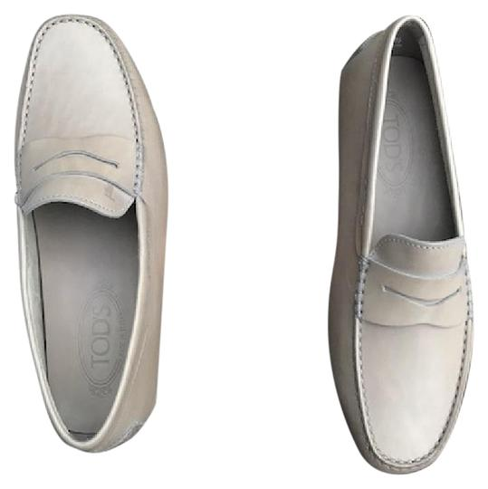 Tod's Men's Loafers Loafers Mocassini Gommini Gray/Taupe Flats