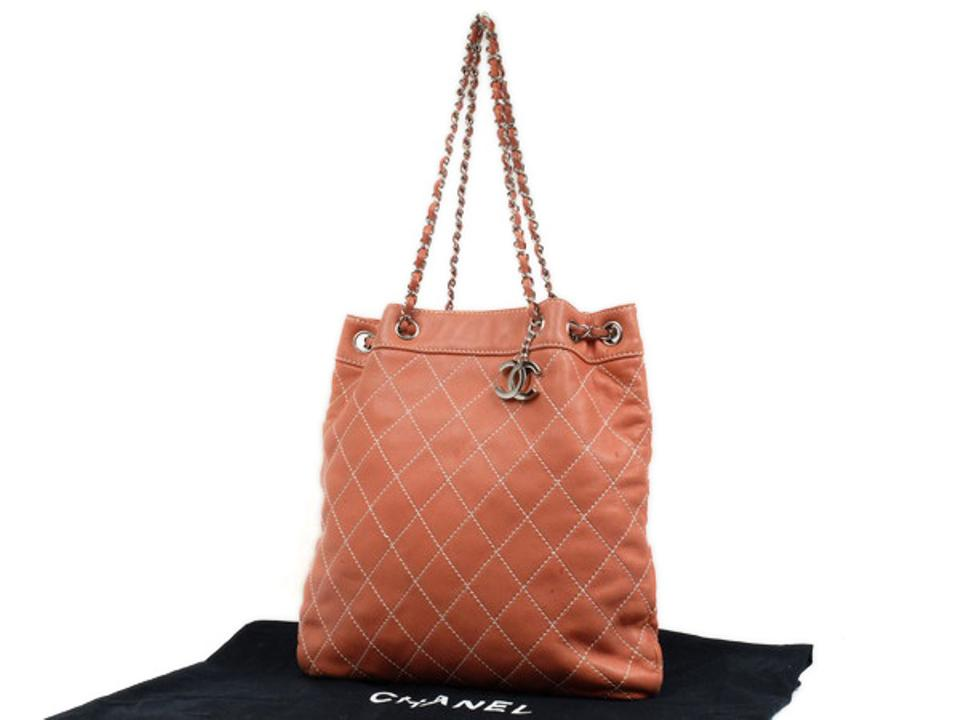 8125513db985 Chanel Whip Stitch Quilted Tote Chain Tote Gst Shopper Shoulder Bag ...