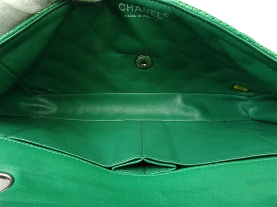 174ced66224a36 Chanel Classic Flap [leprix] Perforated Lambskin 218751 Green ...