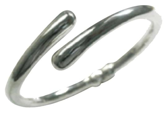 Other Sterling Silver High Polished Bypass Spring Bracelet, Sz 7.5